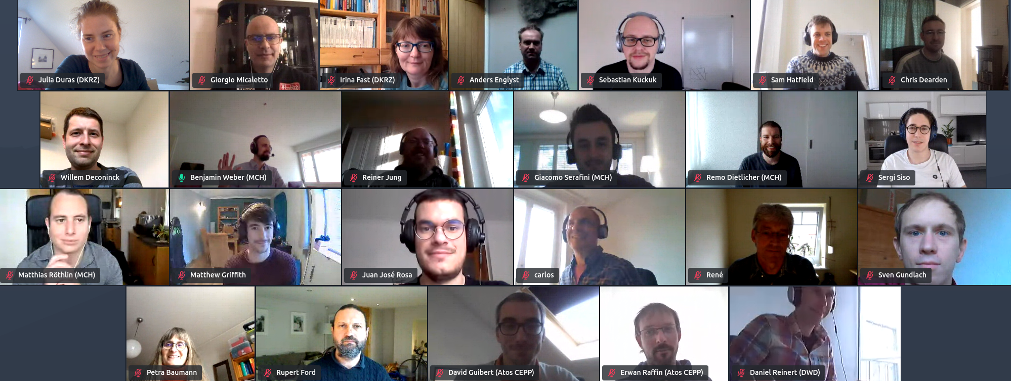 Group picture of the virtual DSL Training