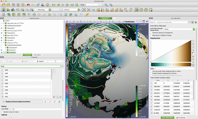 Screenshot from the ParaView hands-on part in session 4